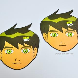 Парти маска Бен Тен, 6 бр. пакет