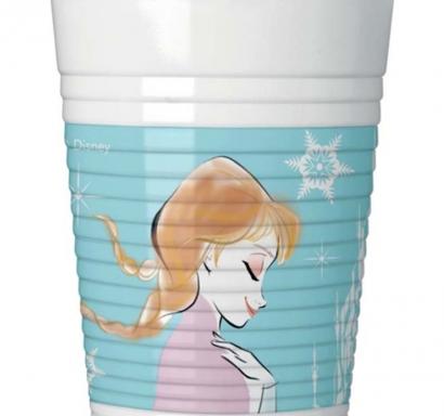 Пластмасова парти чашка Елза и Ана Замръзналото Кралство 200 мл, лицензирана Дисни