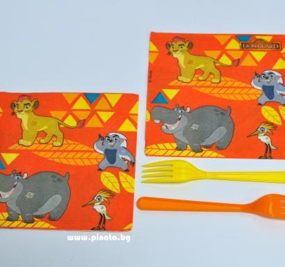 Парти салфетки Цар Лъв  33х33 см, лицензирани
