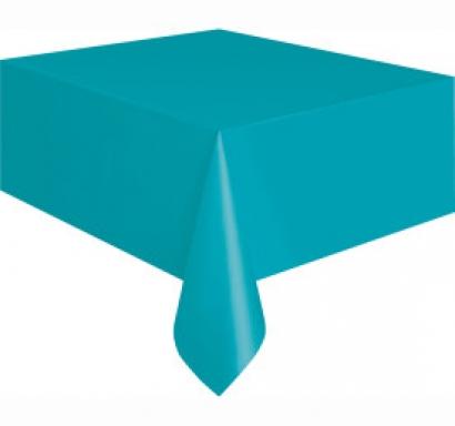 Покривка за еднократна употреба, карибско синьо 137х274 см