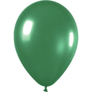 Балон тъмно зелен металик, диаметър 30 см, 10 бр. в пакет