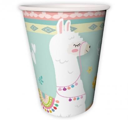 Хартиена парти чашка Лама / Lama 250 мл, пакет 8бр. лицензирана