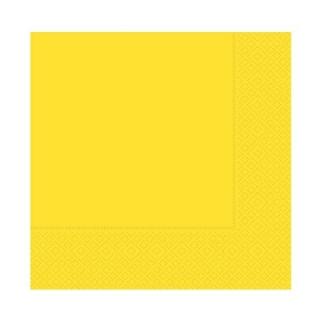 Парти салфетки 33х33 см жълти