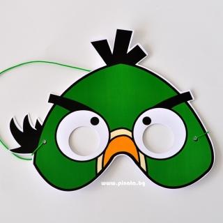 Парти маска Енгри Бърдс зелено пиле