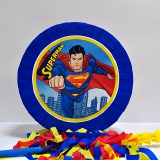 Пинята Супермен, две лица 40х40 см