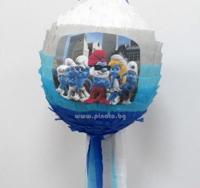 Пинята Смърфовете диаметър 40 см / The Smurfs Pinata