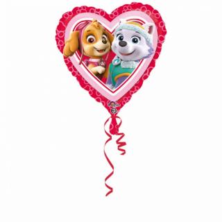 Фолиев балон сърце Скай и Еверест Пес Патрул, две лица, 43 см лиценз Anagram /Gd/