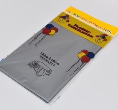 Пластмасова покривка за еднократна употреба сребърна / Disposable Plastic Tablecloth