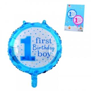Фолиев балон Първи рожден ден момче, 45х45 см