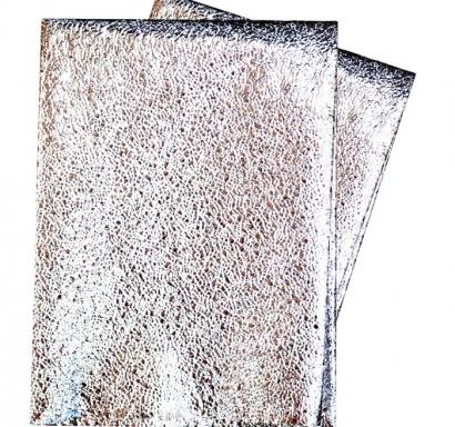 Покривка за еднократна употреба релефна - метализиран гланц, цвят сребро 120х180 см