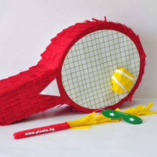 Пинята Тенис ракета дължина 56 см