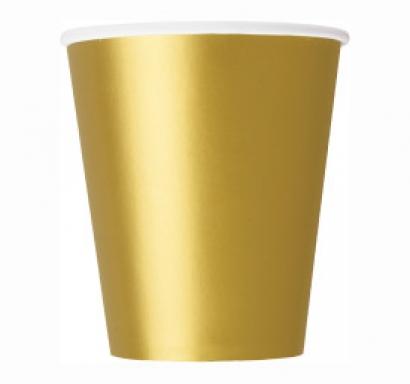 Хартиена парти чашка златна 250 мл