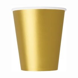 Хартиена парти чашка златна 250 мл, 14 бр. в опаковка
