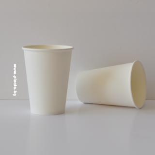 Хартиена парти чашка, 240 мл бяла