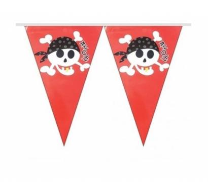 Банер гирлянд за декорация Пират, Пиратско парти, 10 флагчета, 2,00 м дължина