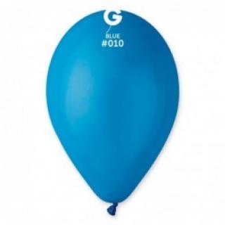 Балон  син пастел, диаметър 26 см, 10 бр. в пакет Gemar Италия