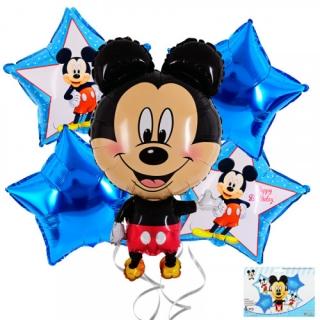 Комплект 5 бр. фолиеви балони Мики Маус