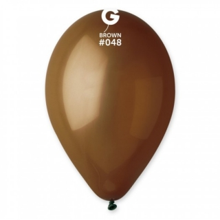 Балон  кафяв пастел, диаметър 26 см, 10 бр. в пакет Gemar Италия