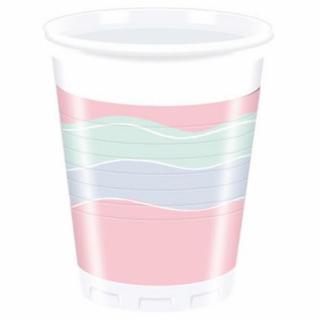 Пластмасова парти чашка Парти / Elegant Party, 200 мл. 8бр. в опаковка /Gd/