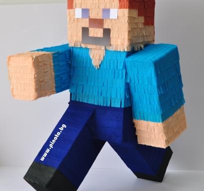 Пинята фигура Стив Майнкрафт, височина 65 см