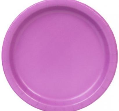 Хартиена парти чинийка лилава, 18 см
