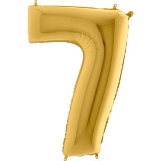"""Фолиен балон цифра 7 цвят злато - 102 см височина /40""""/"""