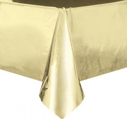 Покривка за еднократна употреба, златна гланц 137х274 см