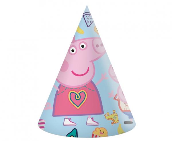 Парти шапка Пепа Пиг / Peppa Pig,  6 бр. в опаковка /Gd/