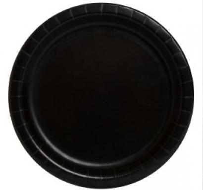 Хартиена парти чинийка черна, 23 см