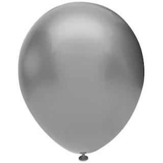 Балон сребърно металик, диаметър 30 см, 10 бр. в пакет