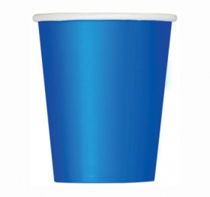 Хартиена парти чашка синя 250 мл