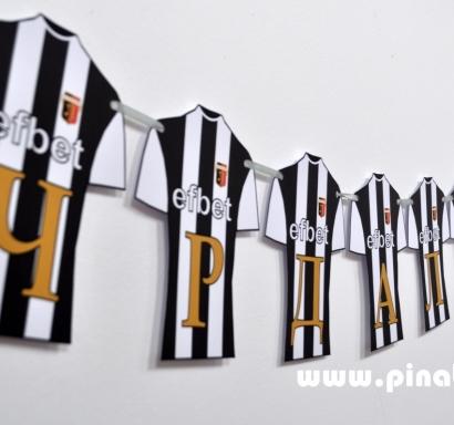 Персонализиран банер Честит Рожден Ден Футбол Локомотив Пловдив, с вкл. два броя фигури бонус