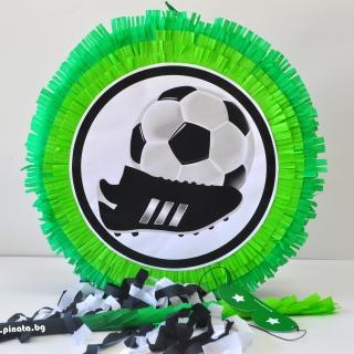 Пинята Футбол, футболист, топка, две лица 40х40 см