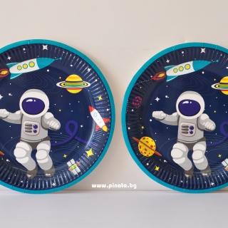 Хартиена парти чинийка Космос 23 см , 6 бр. в пакет
