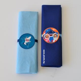 Парти салфетки Риби акули Бейби шарк 33х33 см
