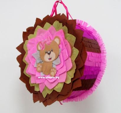 Пинята Розово Мече 40/40 см / Pinata Pink Bear