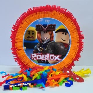 Пинята Роблокс / Roblox, две лица 40х40 см