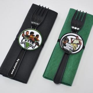 Парти комплект салфетка и вилица GTA 5