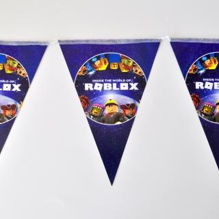 Банер гирлянд за декорация Роблокс, 2,00 м дължина