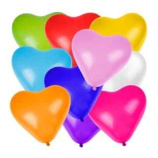 """Балон Сърце различни цветове 30 см /12""""/ 5 бр пакет"""