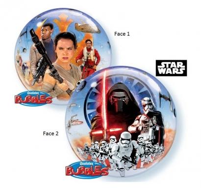 Балон сфера Междузвездни войни, две визии, 56 см лиценз Qualatex /Gd/