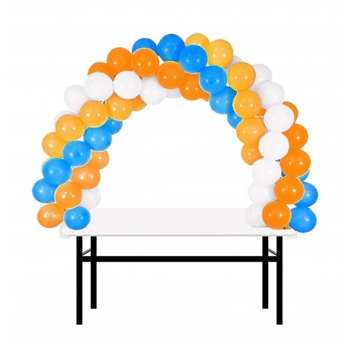 Комплект арка за балони за декорация на маса, размери 180х120см