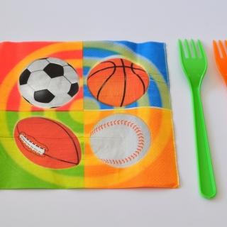 Парти салфетки Топки Спорт 33х33 см
