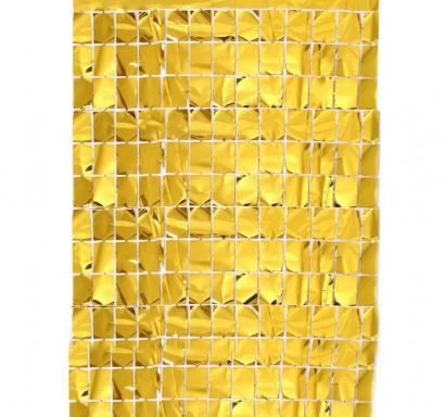 Ресни за фонова декорация - фолио, цвят злато, 100х200см
