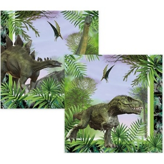 Парти салфетки Джурасик, динозаври 33х33 см, 16бр. в пакет