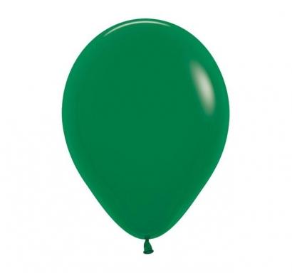Балон тъмно зелен пастел, диаметър 30 см, 10 бр. в пакет