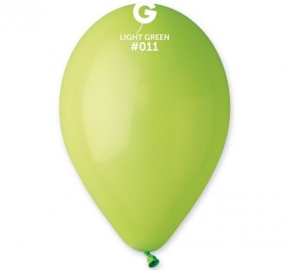 Балон светло зелен пастел, диаметър 26 см, 10 бр. в пакет Gemar Италия