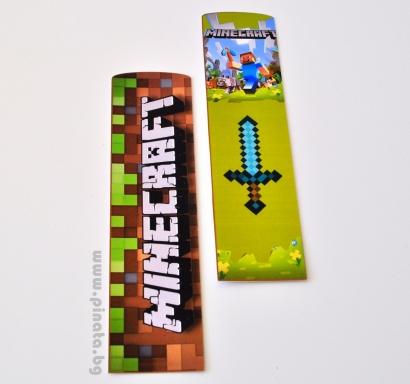 Книгоразделители Майнкрафт/Minecraft