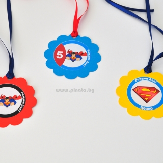 Персонализиран парти медальон Супермен