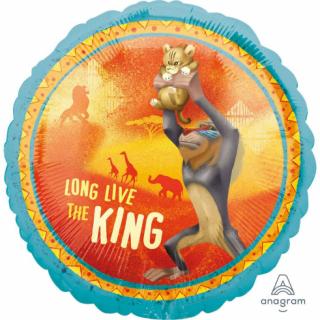 Фолиев балон Цар Лъв, две лица, 43 см лиценз Anagram /Gd/